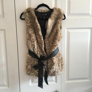 Forever 21 Oversized Faux Fur Vest